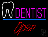Dentist Tooth Logo Open LED Neon Sign