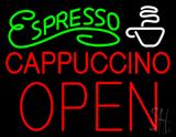 Espresso Cappuccino Block Open LED Neon Sign