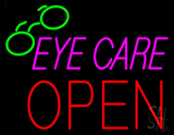 Pink Eye Care Block Open LED Neon Sign