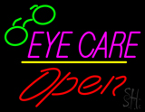 Pink Eye Care Yellow Line Open Logo LED Neon Sign