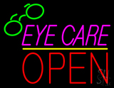 Pink Eye Care Block Red Open Yellow Line LED Neon Sign