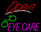 Red Open Pink Eye Care Logo LED Neon Sign