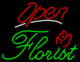 Red Open Green Florist LED Neon Sign