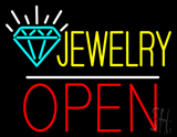 Jewelry Open White Line LED Neon Sign