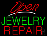Jewelry Repair Open Red LED Neon Sign