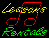 Lessons Rentals LED Neon Sign