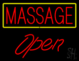 Red Massage Open LED Neon Sign
