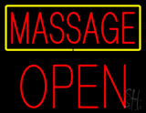 Red Massage Yellow Border Block Open LED Neon Sign