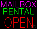 Mailbox Rental Open Block LED Neon Sign