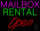 Mailbox Rental Block Open LED Neon Sign