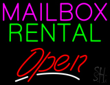 Mailbox Rental Open LED Neon Sign