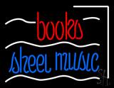 Books Sheet Music LED Neon Sign