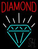 Diamond with Logo Neon Sign