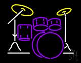 Drum Set LED Neon Sign