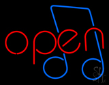 Open Music LED Neon Sign