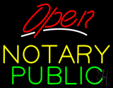 Red Open Notary Public LED Neon Sign
