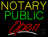 Notary Public Red Open LED Neon Sign
