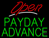 Red Open Green Payday Advance LED Neon Sign