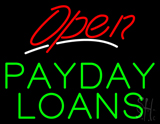 Red Open Payday Loans LED Neon Sign