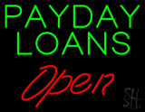 Green Payday Loans Red Open LED Neon Sign