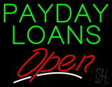 Green Payday Loans Open LED Neon Sign