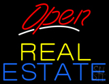 Red Open Real Estate Neon Sign