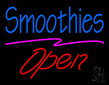 Blue Smoothies Red Open LED Neon Sign