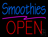 Blue Smoothies Block Red Open LED Neon Sign