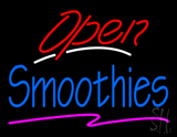 Red Open Blue Smoothies LED Neon Sign