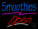 Blue Smoothies Red Slant Open LED Neon Sign