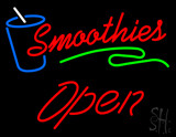 Red Smoothies Slant Open LED Neon Sign
