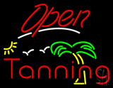 Red Open Tanning Palm Tree LED Neon Sign