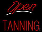 Red Open Tanning LED Neon Sign