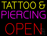Tattoo and Piercing Block Open LED Neon Sign