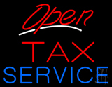 Red Open Tax Service LED Neon Sign