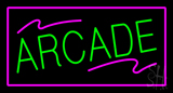 Arcade Rectangle Purple LED Neon Sign