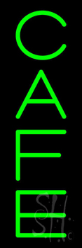 Green Vertical Cafe Neon Sign