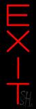 Vertical Exit Neon Sign