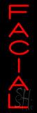 Vertical Red Facial Neon Sign
