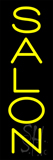 Vertical Yellow Salon Neon Sign