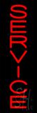 Vertical Service Neon Sign