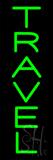 Vertical Green Travel Neon Sign