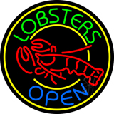 Lobsters Open Neon Sign