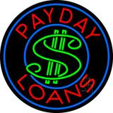 Round Payday Loans Dollar Logo Neon Sign