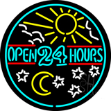 Open 24 Hours LED Neon Sign