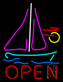 Open Sailboat LED Neon Sign