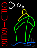 Vertical Red Cruises with Logo Neon Sign