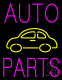 Pink Auto Parts Yellow Logo LED Neon Sign