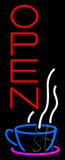 Vertical Open Coffee Neon Sign