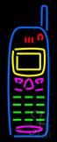 Cellular Phone Logo Neon Sign